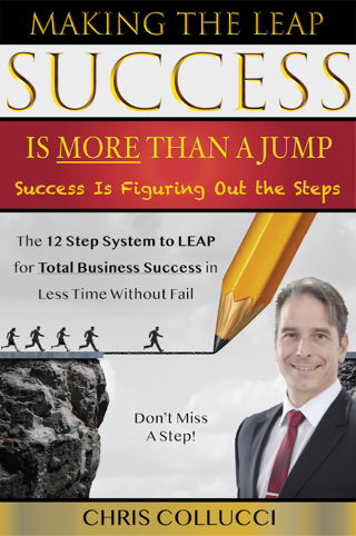 Book Cover for Making the Leap: Success Is More Than a Jump - Success is Figuring Out the Steps. The 12 Step System to LEAP for Total Business Success in Less Time Without Fail